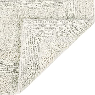 Better Trends Lux 100/% Cotton Reversible Bath Rug Mat in Assorted Colors Shapes