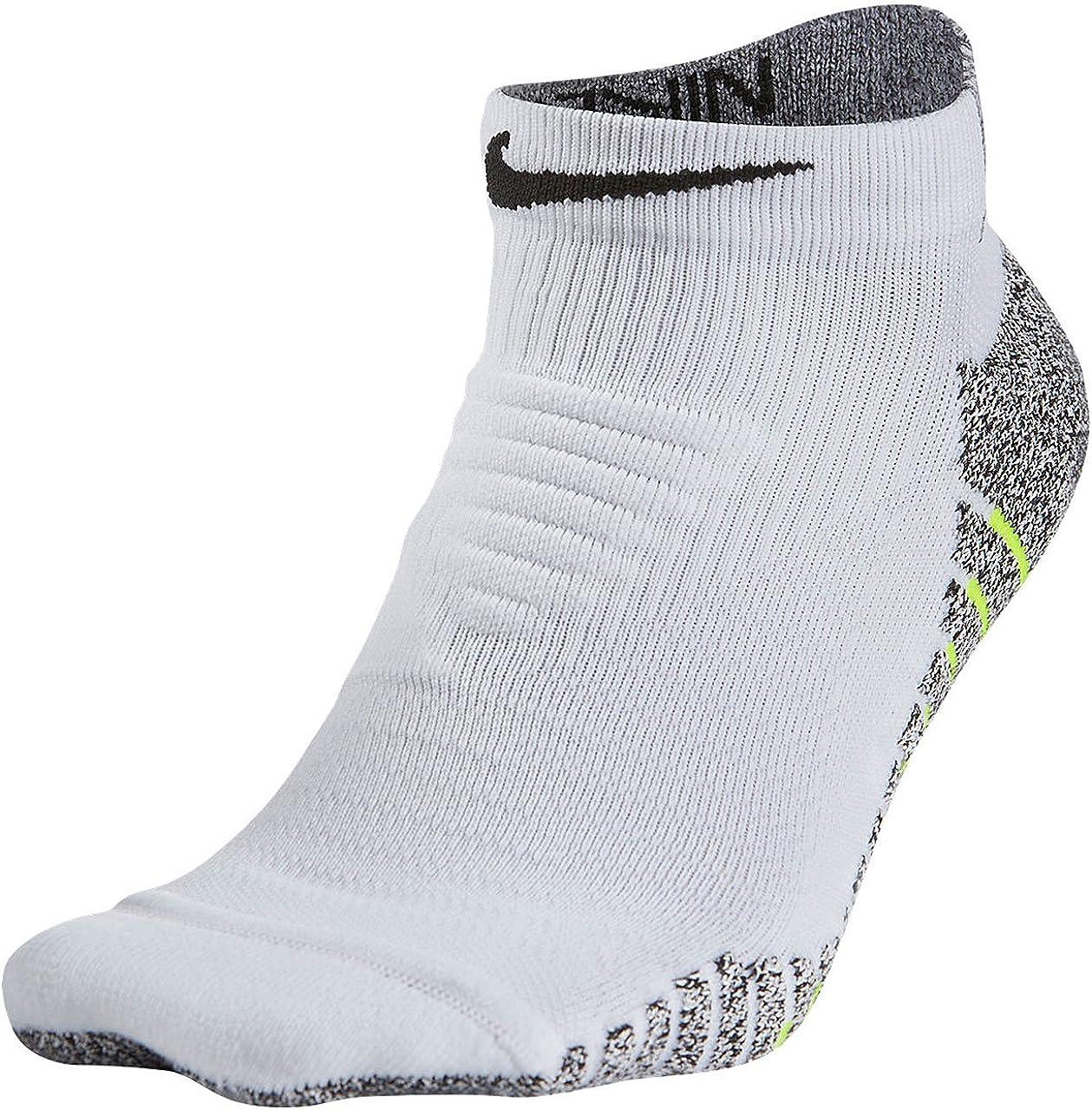 Nike Men's Grip Lightweight Low Training Socks Medium (Fits Men 6-8, Wmn 6-10) White,Black SX5751-100