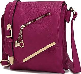 MKF Crossbody Bag for Women – Shoulder Strap – PU Leather Handbag Pocketbook, Ladies..