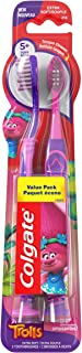 Colgate Kids Toothbrush, Trolls Value Pack, Extra Soft, 2 Count