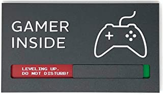 Kubik Letters Game Room Signs, Do Not Disturb Privacy Sign for Gamer Size 8.9