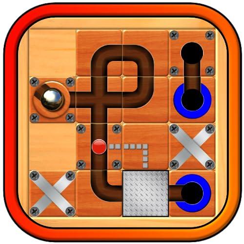 Mármore Mania – o mais recente jogo de puzzle de ação; guia a bola de prata de esfera rolamento através do labirinto de placa do labirinto