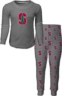 NCAA by Outerstuff NCAA Stanford Cardinal Kids Long Sleeve Tee & Pant Sleep Set, Heather Grey, Kids Medium(5-6)