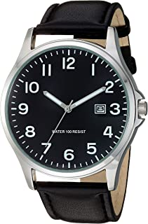 Men's Easy to Read Strap Watch