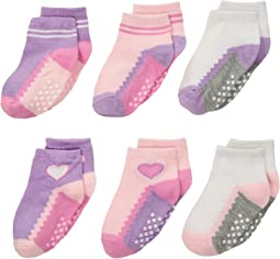 Jefferies Socks Non-Skid Ankle Quarter 6-Pack (Infant/Toddler)