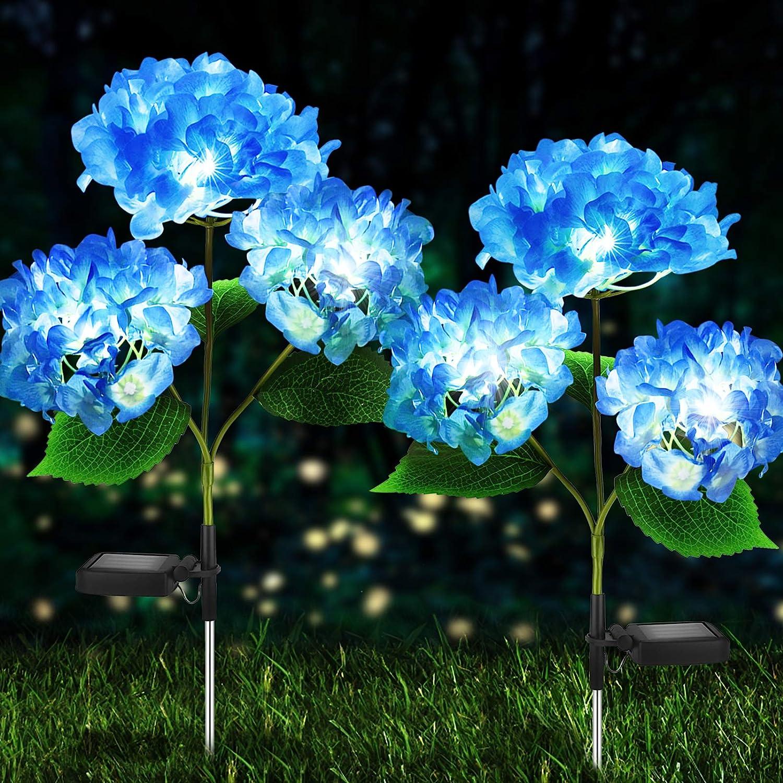 Solar Lights Outdoor Super Omaha Mall Special SALE held Decorative - Garden Pack 2 Hydrangea