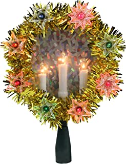 Glitter Gold w//Silver Band Happy Packs Christmas Glitter Ribbon Bows Two-Tone Jumbo PVC Bows for Decorating Wreath Garland Tree Topper Christmas Tree Wedding Party 9 x 14 Pack of 2