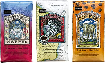 Raven's Brew Ground Variety Pack - 3 Delicious Flavors - Wicked Wolf, Three Peckered Billy Goat and Deadman's Reach - 12 oz each