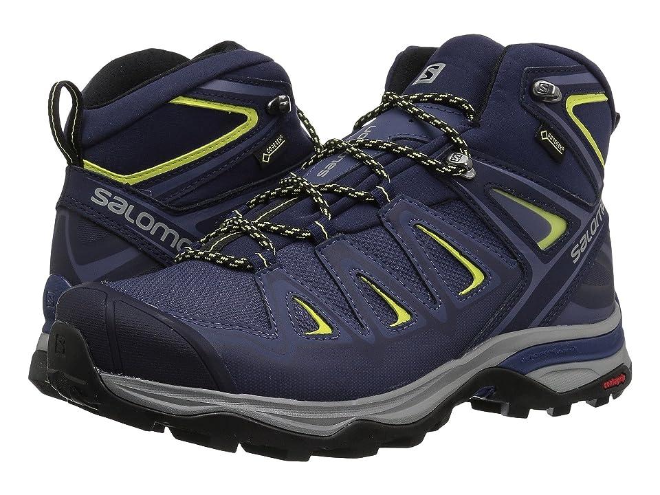 44db96442b4 Salomon X Ultra 3 Mid GTX(r) (Crown Blue/Evening Blue/Sunny Lime) Women's  Shoes