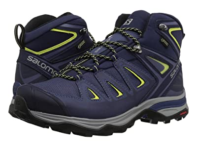 Salomon X Ultra 3 Mid GTX(r) (Crown Blue/Evening Blue/Sunny Lime) Women