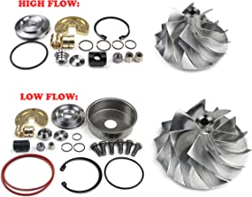 SUPERCELL 08-10 Powerstroke 6.4L Compound Turbo High and Low Pressure Side Billet Compressor Wheels plusRepair Kits