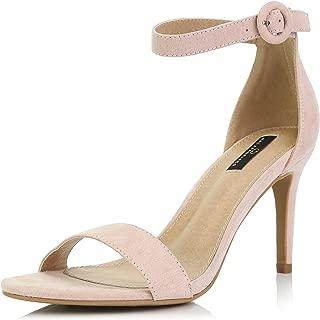 DailyShoes Women's Stilettos Open Toe Pump Ankle Strap Dress High Heel Sandals