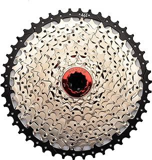 CYSKY 11 Speed Cassette 11Speed 11-46 Cassette Fit for Mountain Bike, Road Bicycle, MTB, BMX, Sram Sunrace Shimano ultegra xt (Light Weight)
