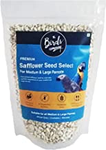 The Birds Company Safflower Seed (Kusum Dana), with Spirulina & Cuttlefish Bone, Bird Food for Conures, Lovebirds, Cockatiels, African Grey, Macaws, Cockatoo, 450 g