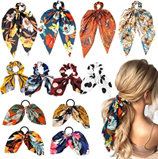 YOUR SMILE Silk Like Scarf Women's Fashion Pattern Large Square Satin Headscarf GERINLY Silk Hair Scarf Animal Print Leopard Neck Scarf Summer Neckerchief for Women YOUR SMILE Silk Feeling Scarf Women's Fashion Pattern & Solid Color Large Square Satin Headscarf WATINC 12 Pcs Bowknot Hair Scrunchies Silk Satin Scarf Hair Ties Chiffon Floral Scrunchie Ponytail Holder with Bows Dot Flower Pattern Hair Scrunchy Accessories Ropes for Women