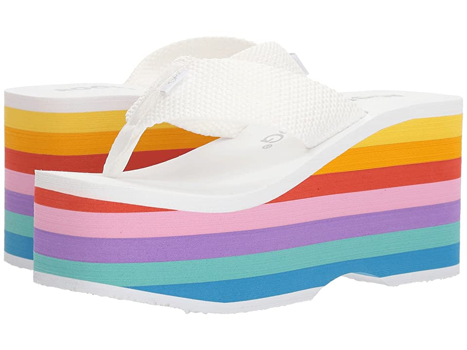 Rocket Dog Bigtop (White Web/Bubblegum Rainbow EVA) Women