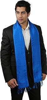 Men's Silk Scarf - Lightweight Fashion Accessory in Solid Royal Blue, 72x10 Inch