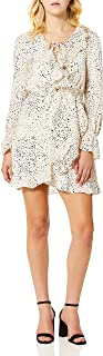 cupcakes and cashmere womens justice printed reverse crepon wrap dress Dress