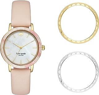 Kate Spade New York Women's Quartz Watch analog Display and Leather Strap, KSW1520b
