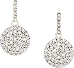 Everyday Crystal Disc Drop w/Pave Stones Earrings