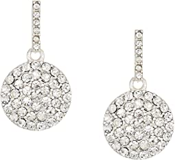 LAUREN Ralph Lauren Everyday Crystal Disc Drop w/Pave Stones Earrings