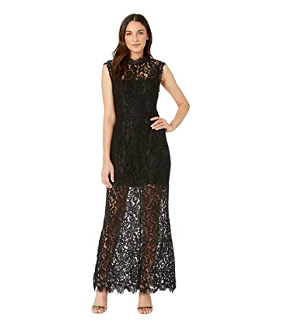 BB Dakota Moonlight Drive Lace Maxi Dress (Black) Women