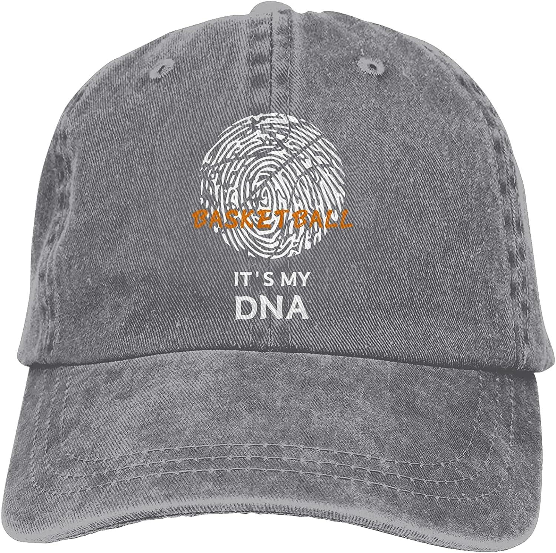 Basketball It's My DNA Baseball Cap Trucker Hat Retro Cowboy Dad Hat Classic Adjustable Sports Cap for Men&Women Gray