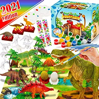 FunzBo Kids Crafts and Arts Set Painting Kit - Dinosaurs Toys Art and Craft Supplies Party Favors for Boys Girls Age 4 5 6...