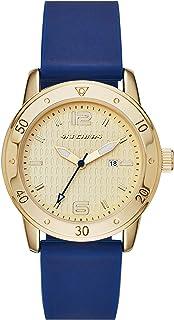 ساعة Skechers النسائية ريدوندو كوارتز معدنية وسيليكون انالوج بعقارب