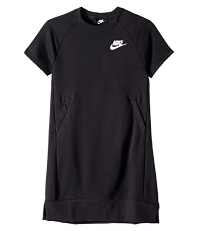 Nike Kids NSW Dress (Little Kids/Big Kids) (Black/White) Girl