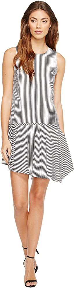 Sleeveless Drop Torso Dress with Asymmetrical Hem