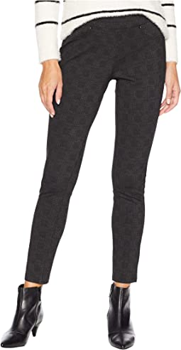 Marla Pull-On Denim Leggings in Black
