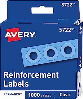 ملصقات Avery Clear ذاتية اللصق، دائرية، عبوة من 1000 (5722)
