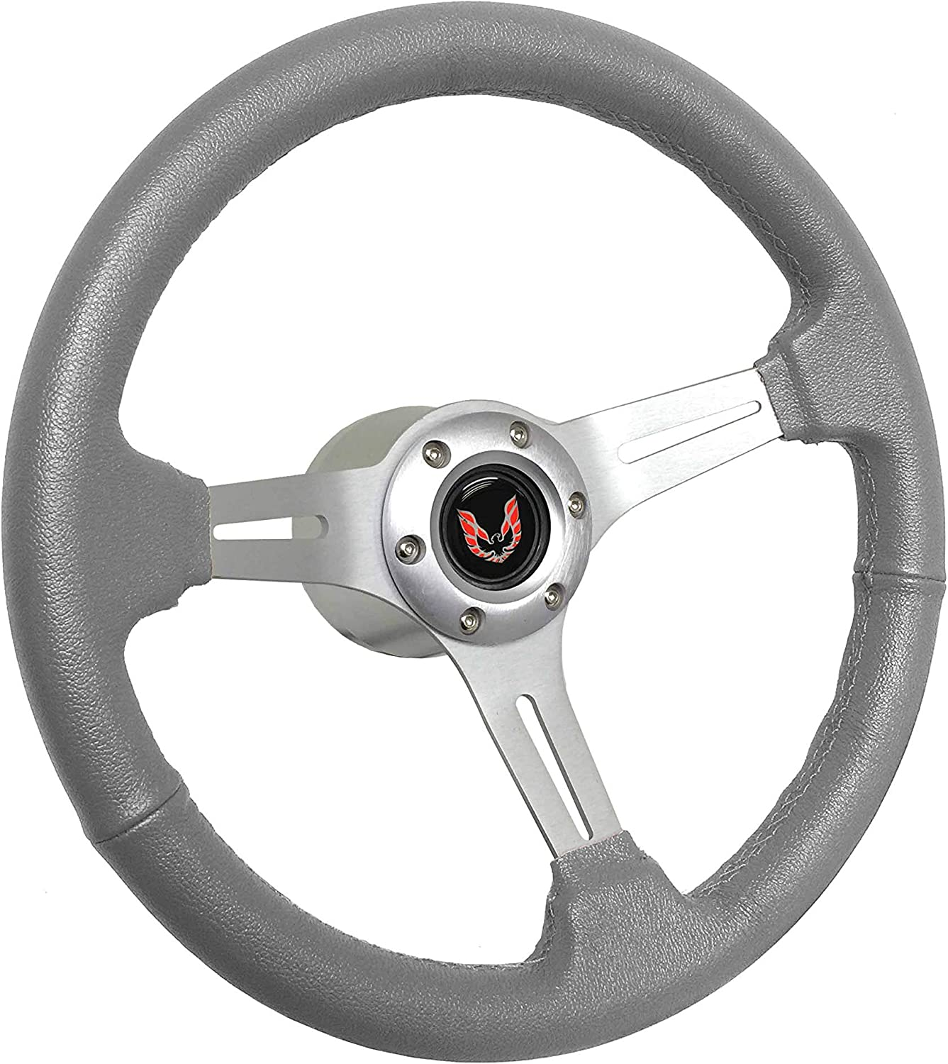 1969-1989 Mail order Pontiac Firebird S6 Grey Wheel Steering Leather Brushe Mail order cheap