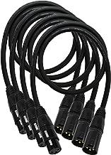 4unidades–0,5Meter–Mogami 2534Neglex star-quad equilibrado Cable de micrófono con conectores XLR de eminente oro