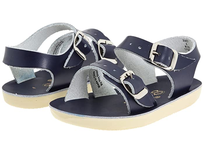 Salt Water Sandal by Hoy Shoes  Sun-San - Sea Wees (Infant/Toddler) (Blue/Navy) Kids Shoes