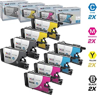 LD © Compatible with Brother LC75 Set of 8 High Yield Ink Cartridges: 2 each of LC75BK Black / LC75C Cyan / LC75M Magenta / LC75Y Yellow for use in the Brother MFC-J280W, MFC-J425W, MFC-J430W, MFC-J435W, MFC-J5910DW, MFC-J625DW, MFC-J6510DW, MFC-J6710DW, MFC-J6910DW, MFC-J825DW and MFC-J835DW Printers