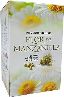 FLOR DE MANZANILLA PIRAMIDES INFUSIÓN PREMIUM CAJA 20 PIRAMIDES DE 1,75G = 35g.