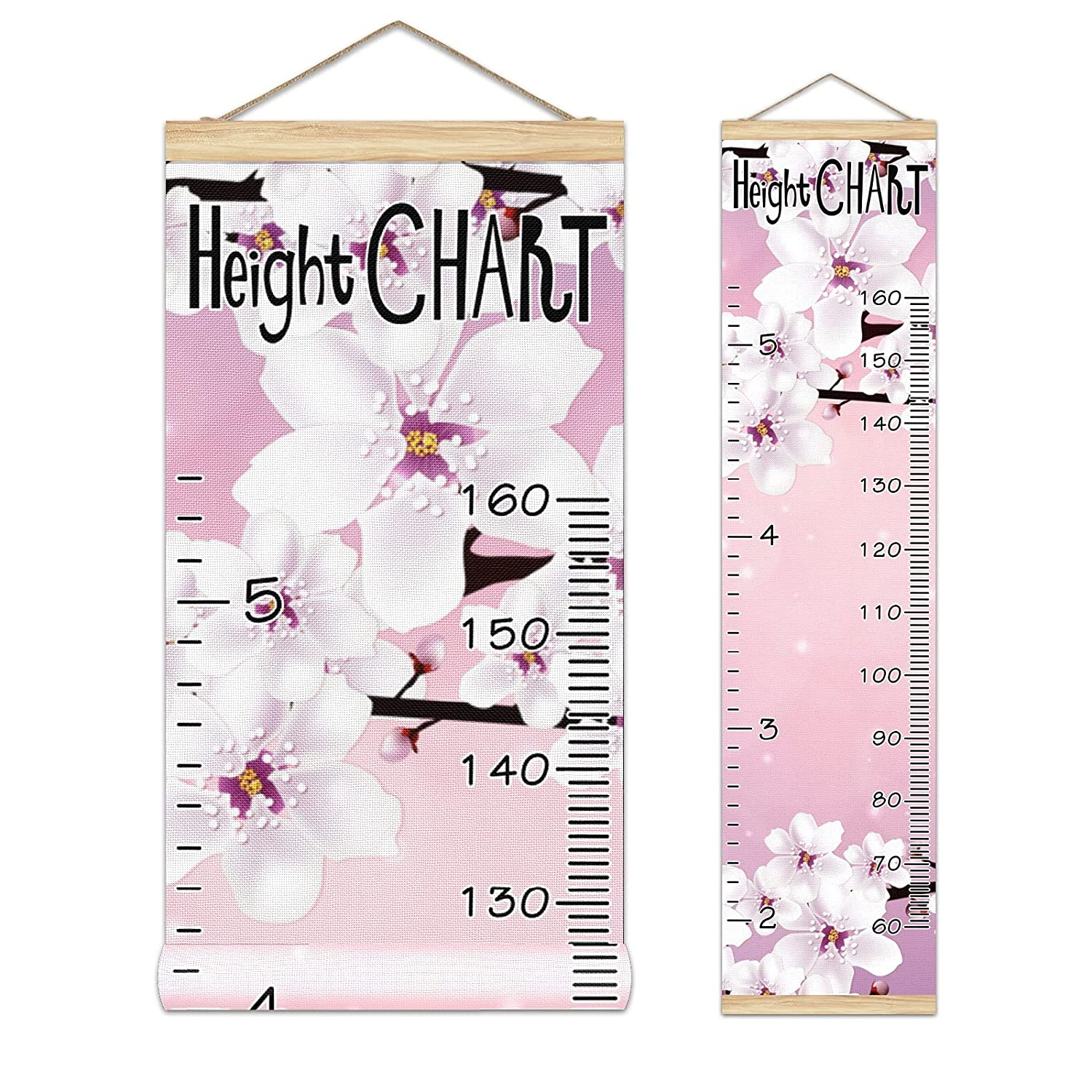Manufacturer OFFicial shop Growth Chart Kid's In a popularity Height Pattern Beautiful Cherry Blossom