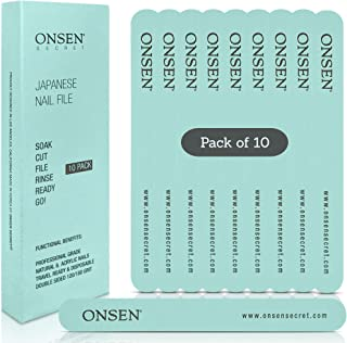 Onsen - Lima de uñas para manicura profesional, limas de u