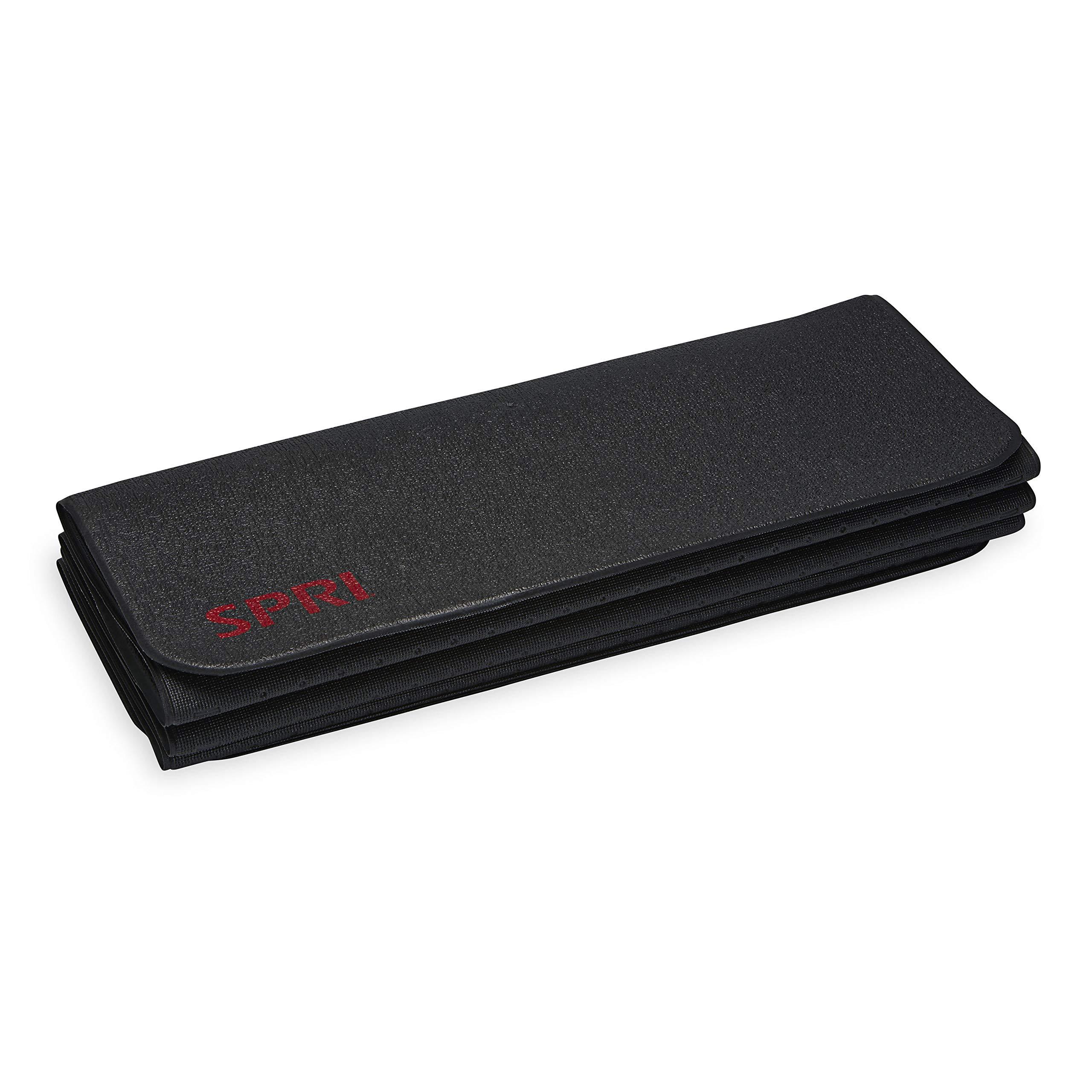 SPRI 运动垫可折叠 6 毫米厚高*泡沫健身和瑜伽垫72英寸(约182.9厘米)长(折叠至24英寸长 x 9英寸宽 x 2英寸高)