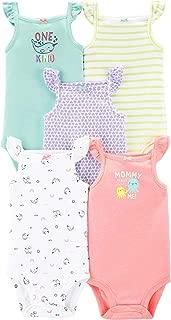 Baby Girls' 5 Pack Bodysuits (Baby), Kitty Love