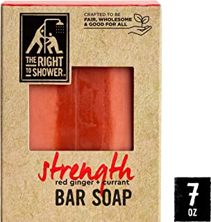 The Right To Shower Strength Shampoo Bar & Bar Soap Red Ginger and Currant Vegan 7 oz