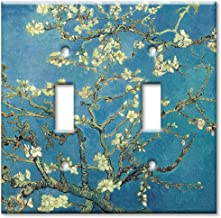 Art Plates - Van Gogh: Almond Blossoms Switch Plate - Double Toggle