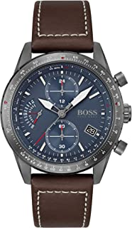 Hugo Boss Men's Analog Quartz Watch with Leather Strap 1513852