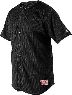 Rawlings Youth Full Button YBJ167 Jersey , Black, Youth Medium