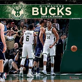 Turner 1 Sport Milwaukee Bucks 2019 12X12 Team Wall Calendar Office Wall Calendar (19998011885)