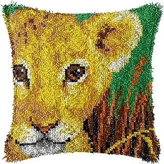 Kits de crochet de loquet, diy thème animal à thème imprimé taies d'oreiller de coussin de coussin de coussin de crochet f...