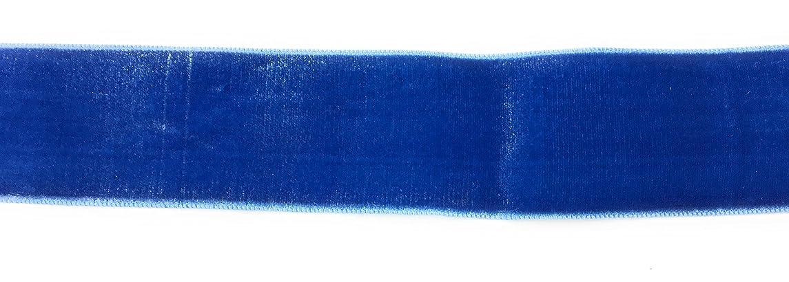 1.5 '' Rayon Velvet -Electric Blue 5 Yards Velour Vintage Ribbon Made in France