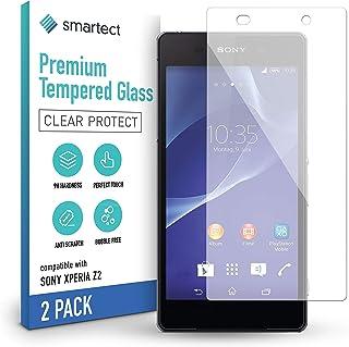 smartect 9H Skärmskydd i härdat glas kompatibel med Sony Xperia Z2 [2-Pack] - Ultratunn design - Anti-rep-fingeravtryck - ...